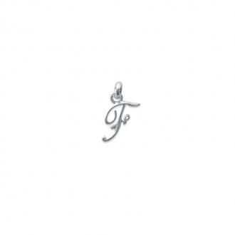 Pendentif initiale lettre F en argent 925/000. 74811556-Carador