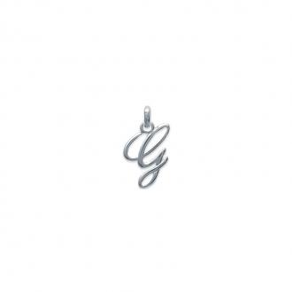 Pendentif initiale lettre G en argent 925/000. 74811557-Carador