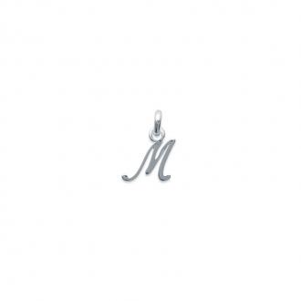 Pendentif initiale lettre M en argent 925/000. 748115513-Carador