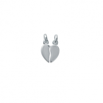 Pendentif double coeur Carador argent 925/000 7481355