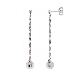 Boucles d'oreilles pendantes en argent 925/000 de chez carador