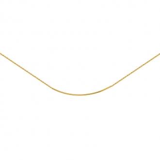 Collier souple en plaqué or de chez carador en maille forçat