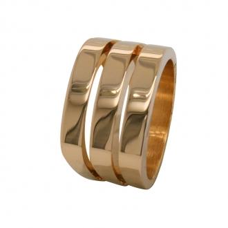 Bague en plaqué or trois anneaux