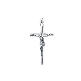 Pendentif croix et christ relief en argent 925/000