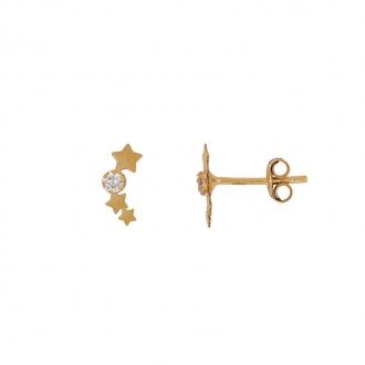 Boucles d'oreilles Carador étoiles Or jaune 375/000e