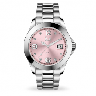 Montre Ice-Watch ICE STEEL Light pink with stones medium 016776