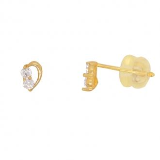 Boucles d'oreilles Carador or jaune 375/000 et oxyde de zirconium