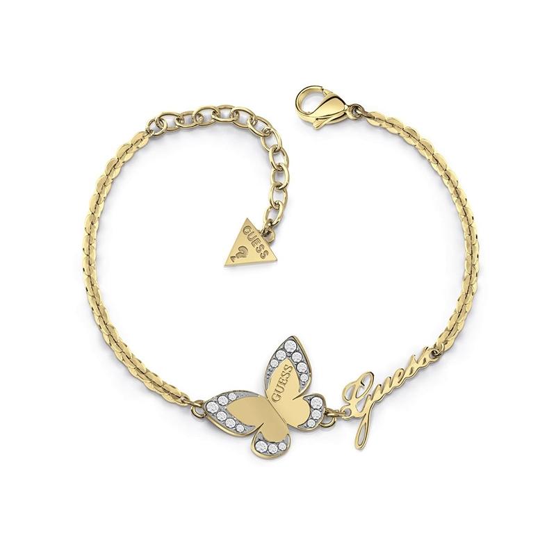 Bracelet Guess Love Butterfly métal doré UBB78050-S