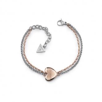 Bracelet Guess Unchain my heart bicolore UBB78103-S