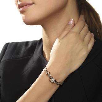 Bracelet Guess Love knot métal doré rose UBB78060-S