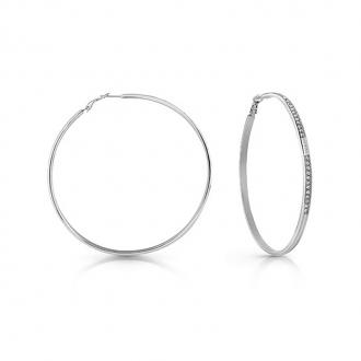 Boucles d'oreilles créoles GUESS UBE78089