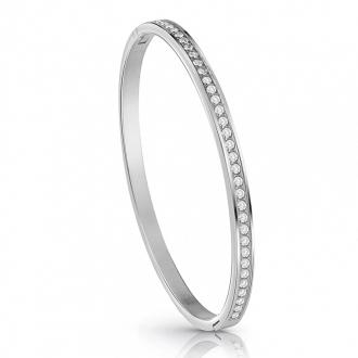 Bracelet Jonc Guess métal argenté et cristaux UBB28133-S