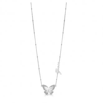 Collier Guess Love Butterfly métal argenté UBN78024