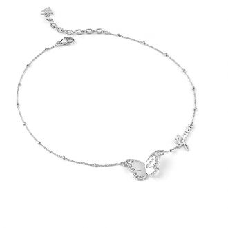 Collier Guess Love Butterfly métal argenté UBN78024