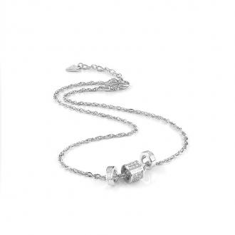 Collier Guess Love Knot métal argenté UBN78038