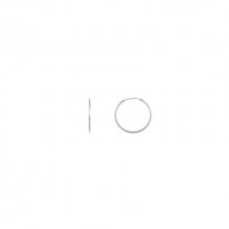 Boucles d'oreilles Carador Créoles 14x10 mm or blanc 375/000