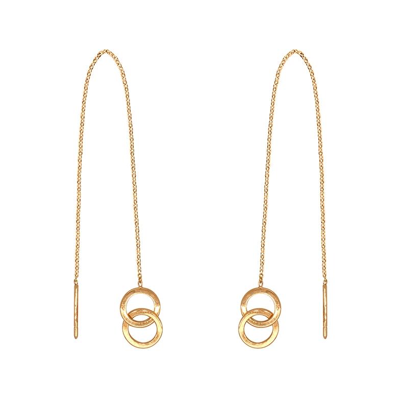 2  COEUR Plaqué OR NEUF Boucles FEMME Pendantes Chaine