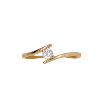 BAGUE SOLITAIRE CARADOR OR 375/000 OXYDE DE ZIRCONIMUM