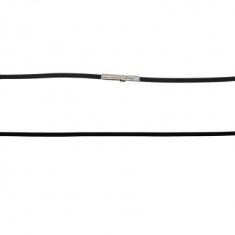 Collier homme en silicone avec fermoir en acier 45 cm