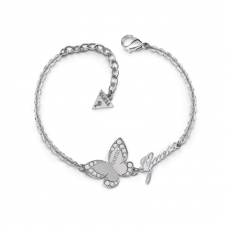 Bracelet Guess Love Butterfly métal argenté UBB78049-S