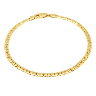 Bracelet Carador or jaune 750/000 maille haricot