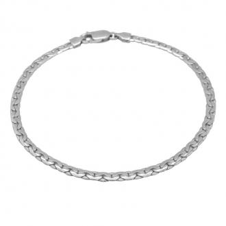 Bracelet Carador or blanc 750/000 maille haricot