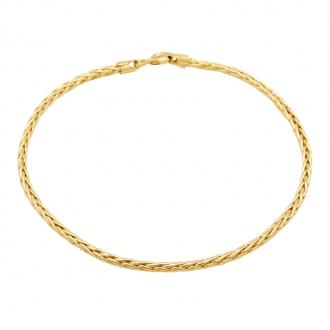 Bracelet Carador or 750/000 maille palmier 2mm