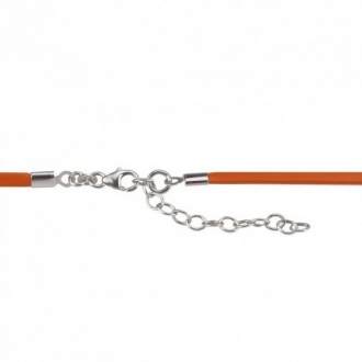 Collier Una Storia cordon orange et argent 925/000 CORCORO