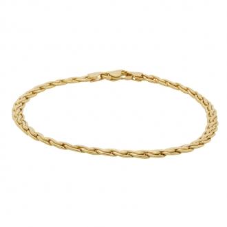 Bracelet Carador or jaune 750/000 maille S