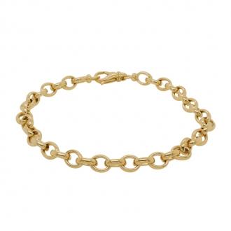 Bracelet Carador or jaune 750/000 maille JASERON