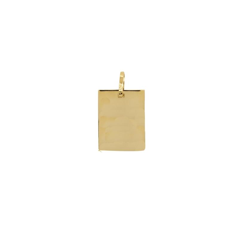 Pendentif plaque Carador Or jaune 750/000