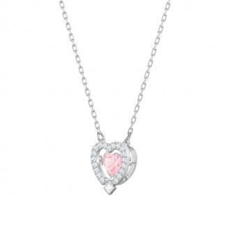 Collier femme Swarovski Sparkling Dance Heart cristal rose 5465284