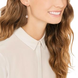 Boucles d'oreilles Swarovski Ginger Chain dorées rose 5253285