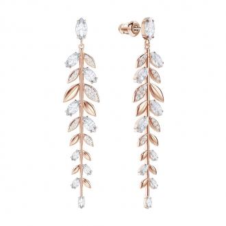 Boucles d'oreilles Femme Swarovski Mayfly métal plaqué or rose 5410410