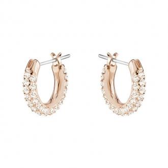 Boucles d'oreilles Swarovski Stone mini, métal plaqué or rose 5446008