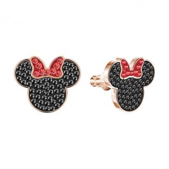 Boucles d'oreilles Swarovski Mickey & Minnie, métal plaqué or rose 5446390
