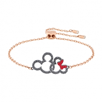 Bracelet Swarovski Mickey & Minnie, métal plaqué or rose 5435138