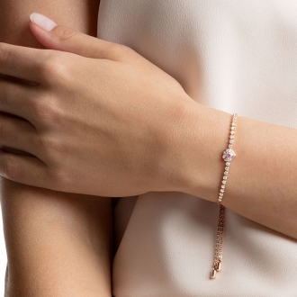 Bracelet Swarovski One, métal plaqué or rose 5446299
