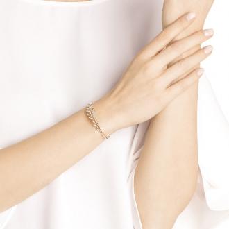 Bracelet jonc Femme Swarovski Mayfly métal plaqué or rose 5410411