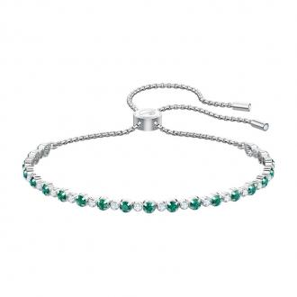 Bracelet Femme Swarovski Subtle métal rhodié, cristaux verts 5465355