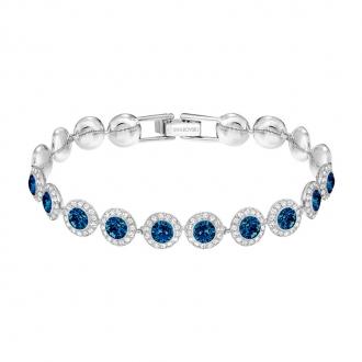 Bracelet femme Swarovski Angelic métal rhodié cristaux bleus 5480484