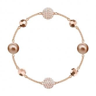 Bracelet Swarovski Remix Strand métal plaqué or rose 5437890