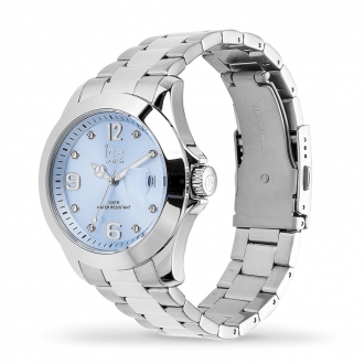 Montre Ice-Watch ICE STEEL Light blue with stones medium 016775
