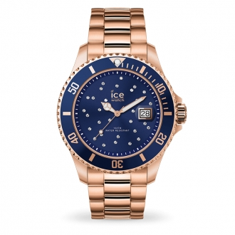Montre Ice-Watch ICE STEEL Bleu cosmos rose-gold 016774