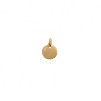 Pendentif Carador plaque ronde plaqué or