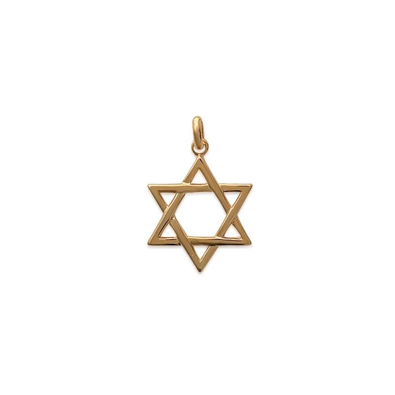 Pendentif Carador Etoile de David en plaqué or