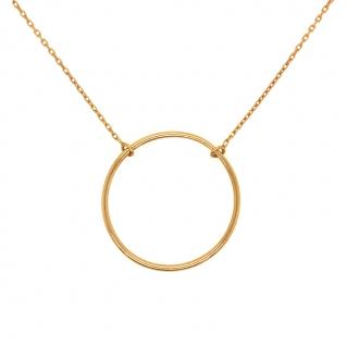 Collier Femme cercle minimaliste en or 750/000