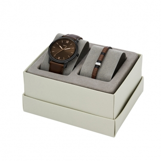 Coffret montre et bracelet FOSSIL homme FS5557SET
