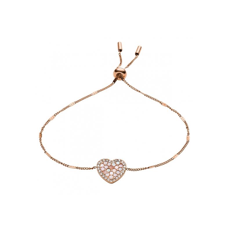 Bracelet Fossil en acier coeur