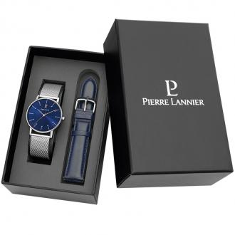 Coffret montre Homme Pierre Lannier bracelets interchangeables 377C168
